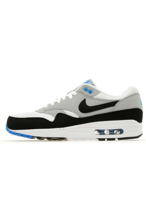 Nike Air Max 1 ESSENTIAL 537383-104 White Black Wolf Basket Running Homme