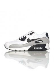 Nike Air Max 90 537384-110 Cuir Blanc Chaussure Running Hommes