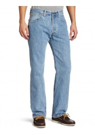 Levi's 501 Original Button Fly Light Stonewashed Bleu Clair Jeans 501-0134 Hommes