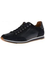 Basket Mode Magnanni en Cuir Sabino Bleu Marine Sneakers Homme